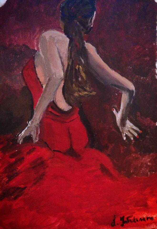 Flamenco 1 – acrilico su tela 21×29