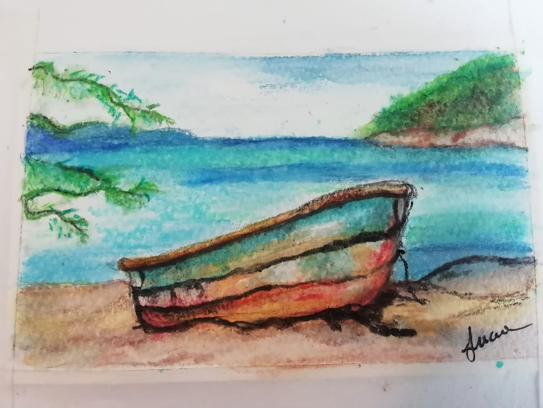 Spiaggia – pastelli acquarellabili