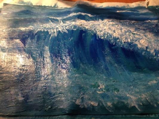 Mare in tempesta, v2, acrilico 30×25