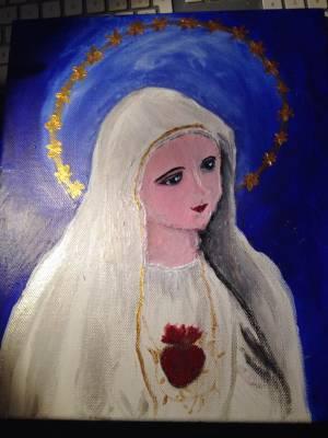 Madonna di Fatima – acrilico 25×30